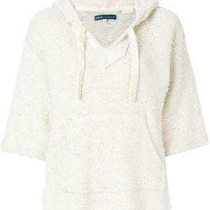 Levi's short-sleeved white hoodie